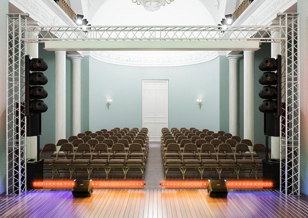 Как мы оборудовали актовый зал, но сохранили исторический облик памятника архитектуры
